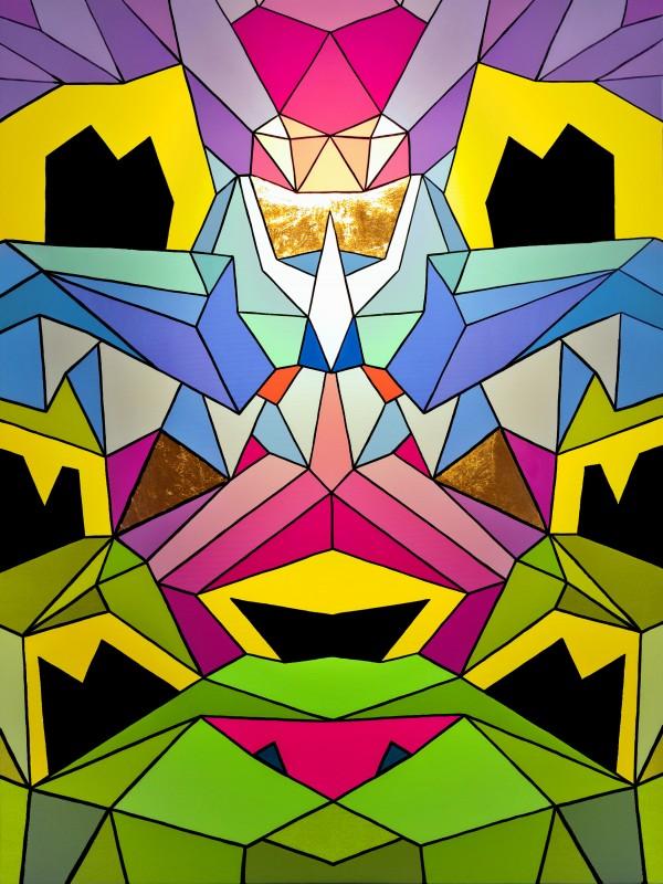 Crystal King Bunny painting