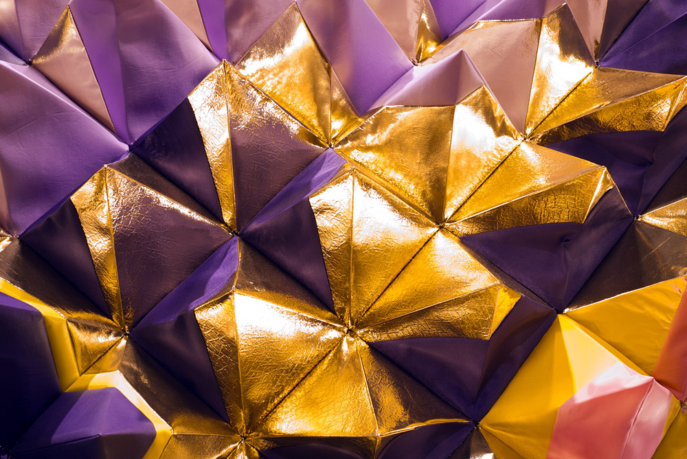 Gold and purple section, as installed for Let's Glow