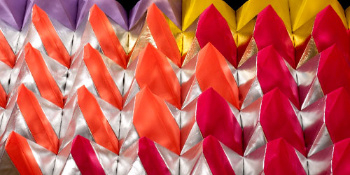 Detail photo of Polytopia textile art