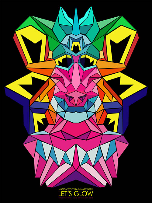 Crystal King Baboon poster for Let's Glow