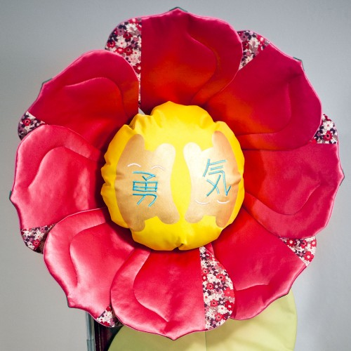 Silk flower sculpture