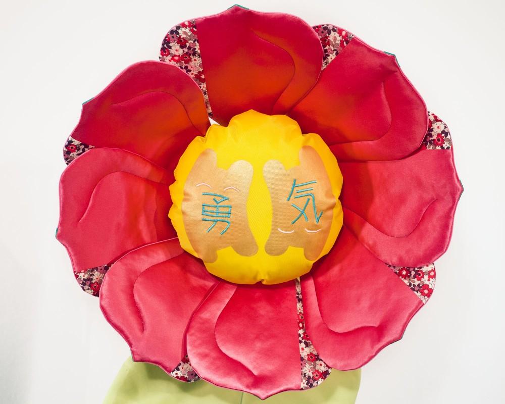 Yuuki Flower silk textile sculpture