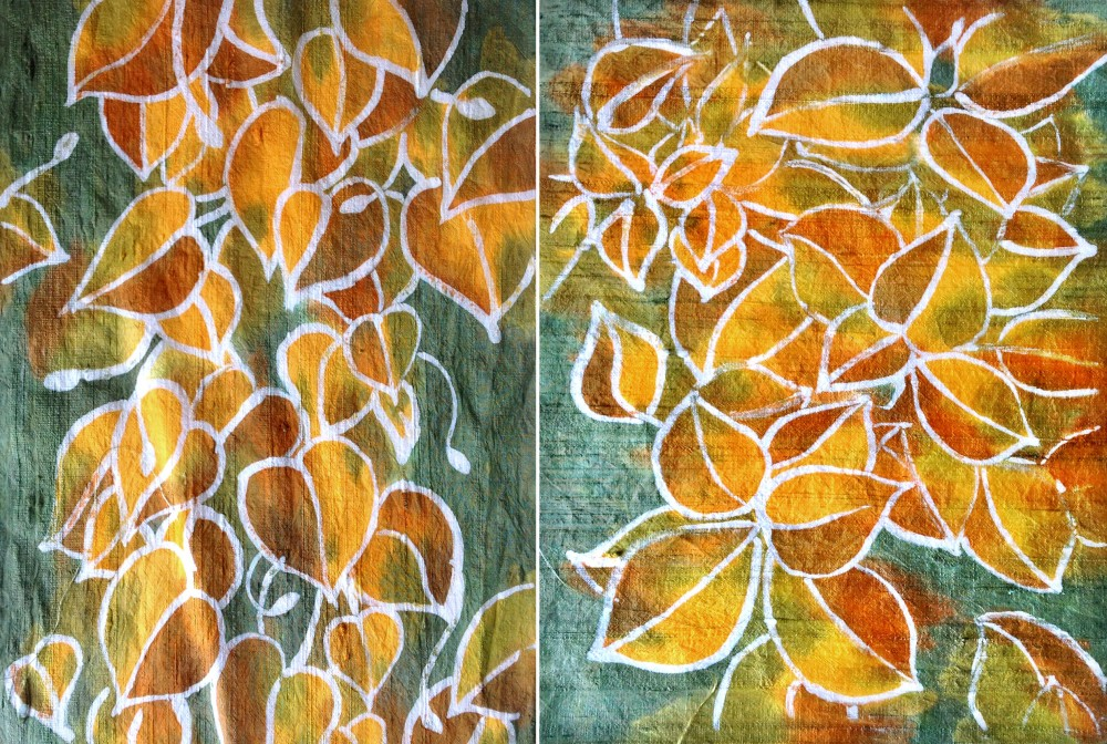 Finished batik panels