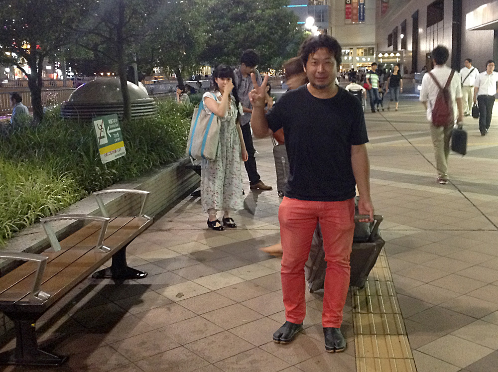Daisuke Takeya and Yukiko meet us at the train station in Sendai.