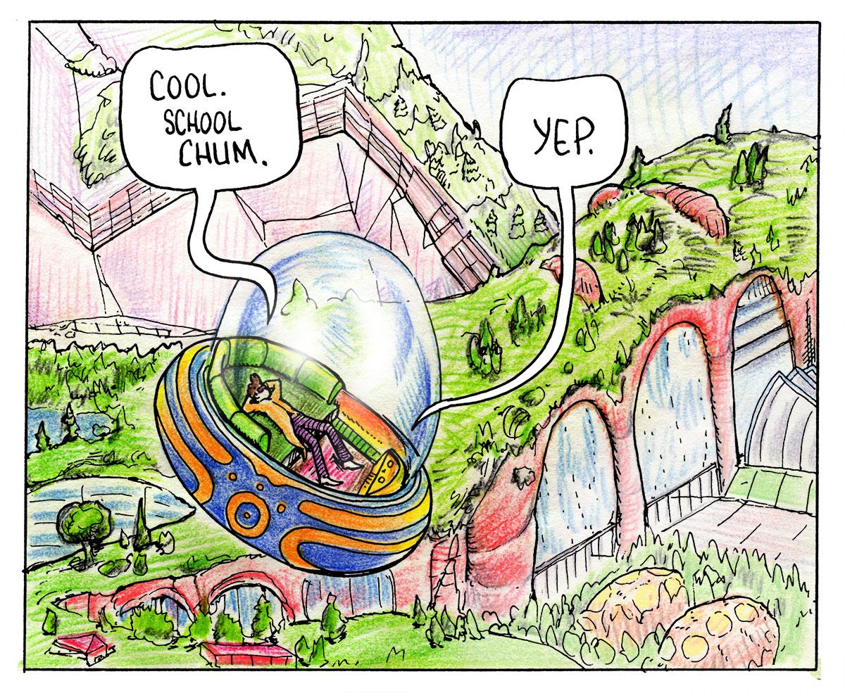 Lodar and his Bubble Car