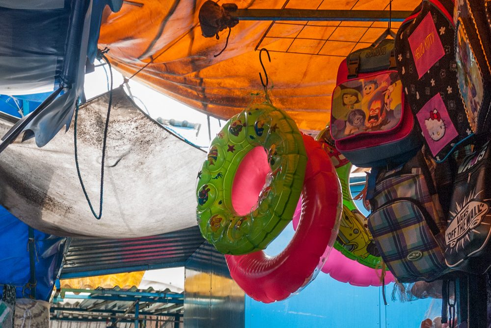 Inflated swim rings and bags, Tepoztlan, Mexico
