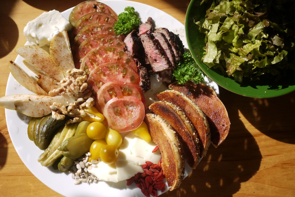 Breakfast plate at home