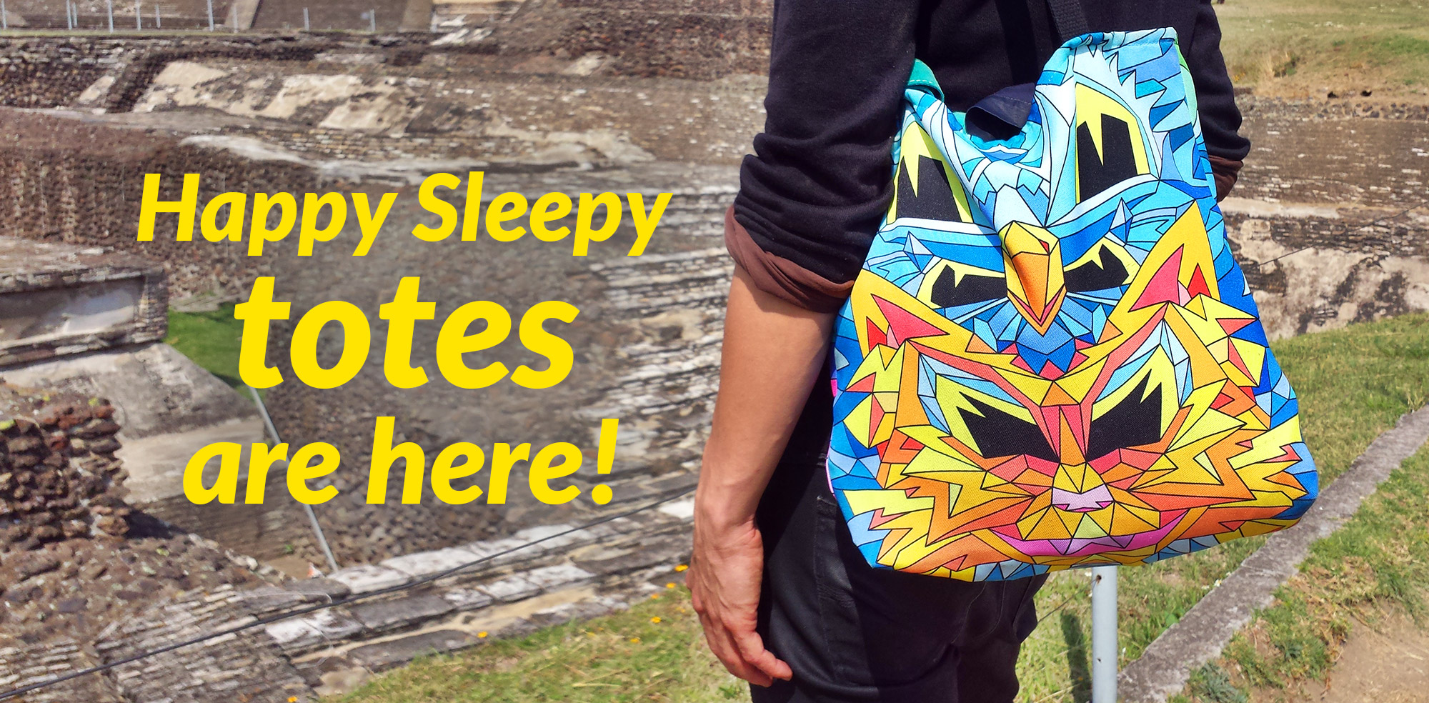 Happy Sleepy tote bag