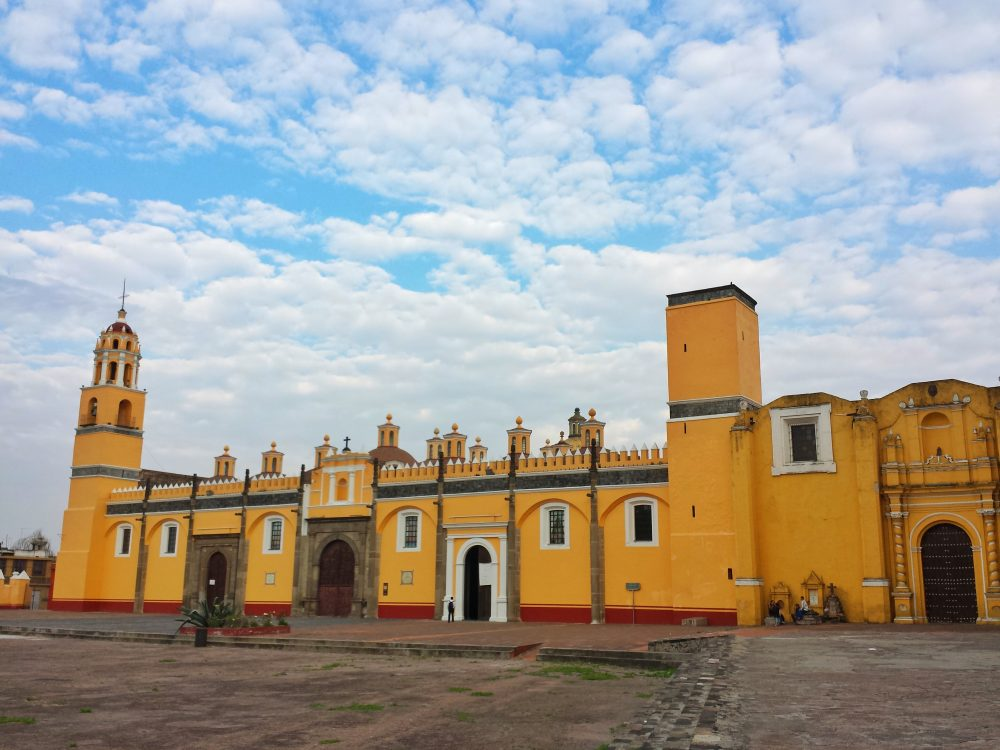 Exterior view church in Cholula, Mexico
