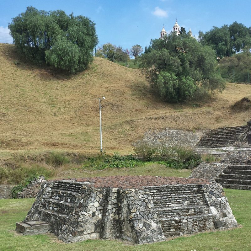 Ruin of the child sacrifice altar, Cholula, Mexico