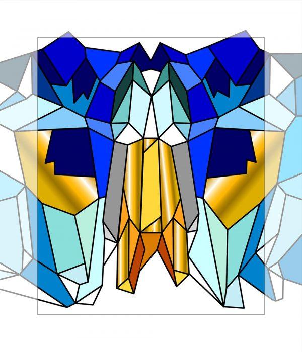 Crystal King Blue Brow painting digital sketch by Happy Sleepy