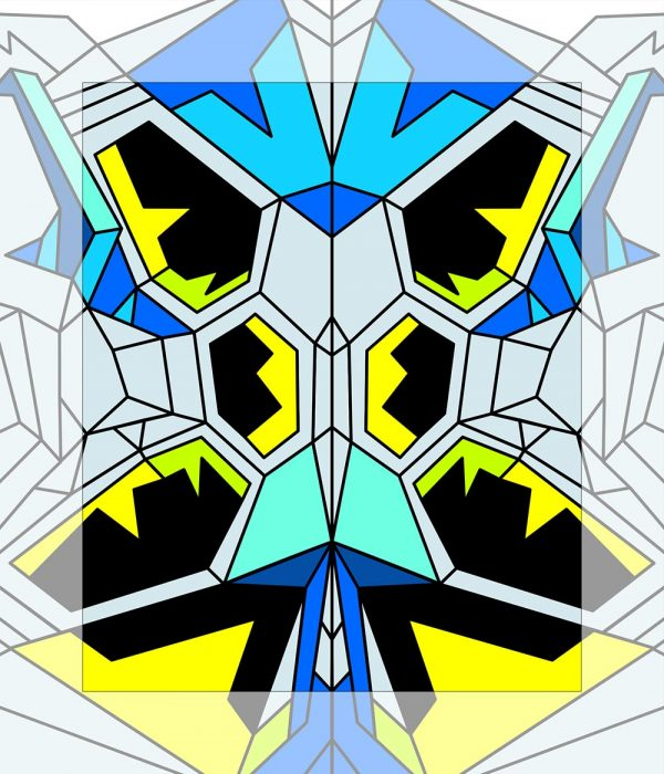 Crystal King Blue Butterfly painting digital sketch by Happy Sleepy