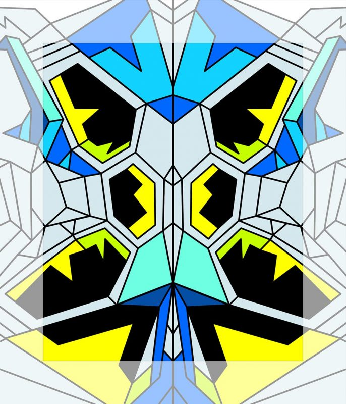 Crystal King Blue Butterfly painting digital sketch by Happy Sleepy