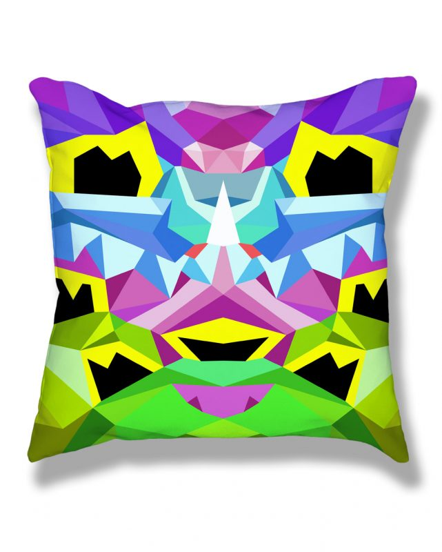 Crystal King Bunny pillow, front