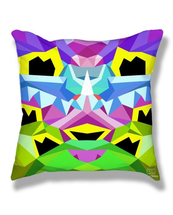 Crystal King Bunny pillow, back