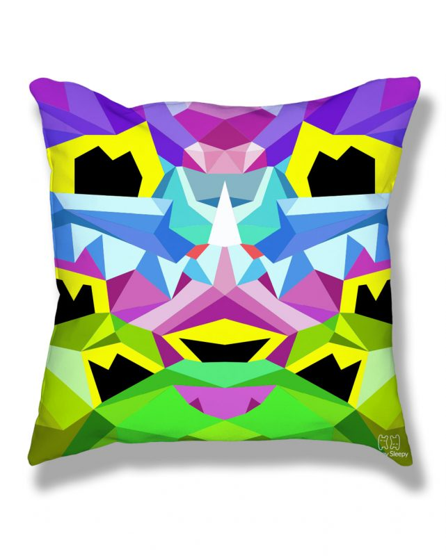 Crystal King Bunny pillow, back