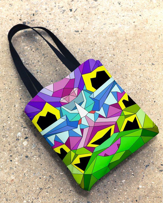 Crystal King Bunny tote bag