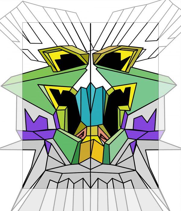 Crystal King Chapeau painting digital sketch by Happy Sleepy