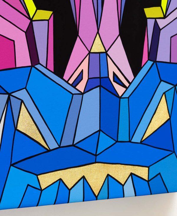 Crystal King Chapeau original painting