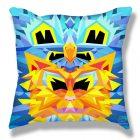 Crystal King Firecat pillow, back