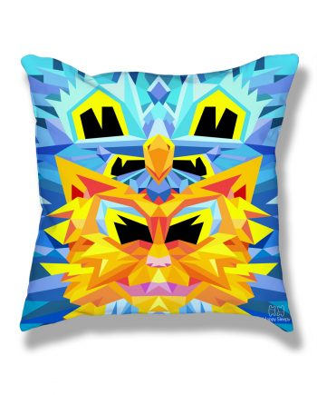 Crystal King Firecat pillow, back
