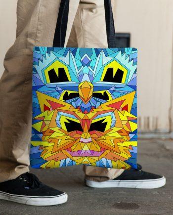 Crystal King Firecat tote