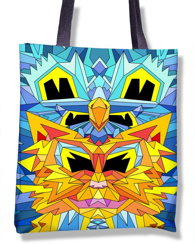 Crystal King Firecat tote