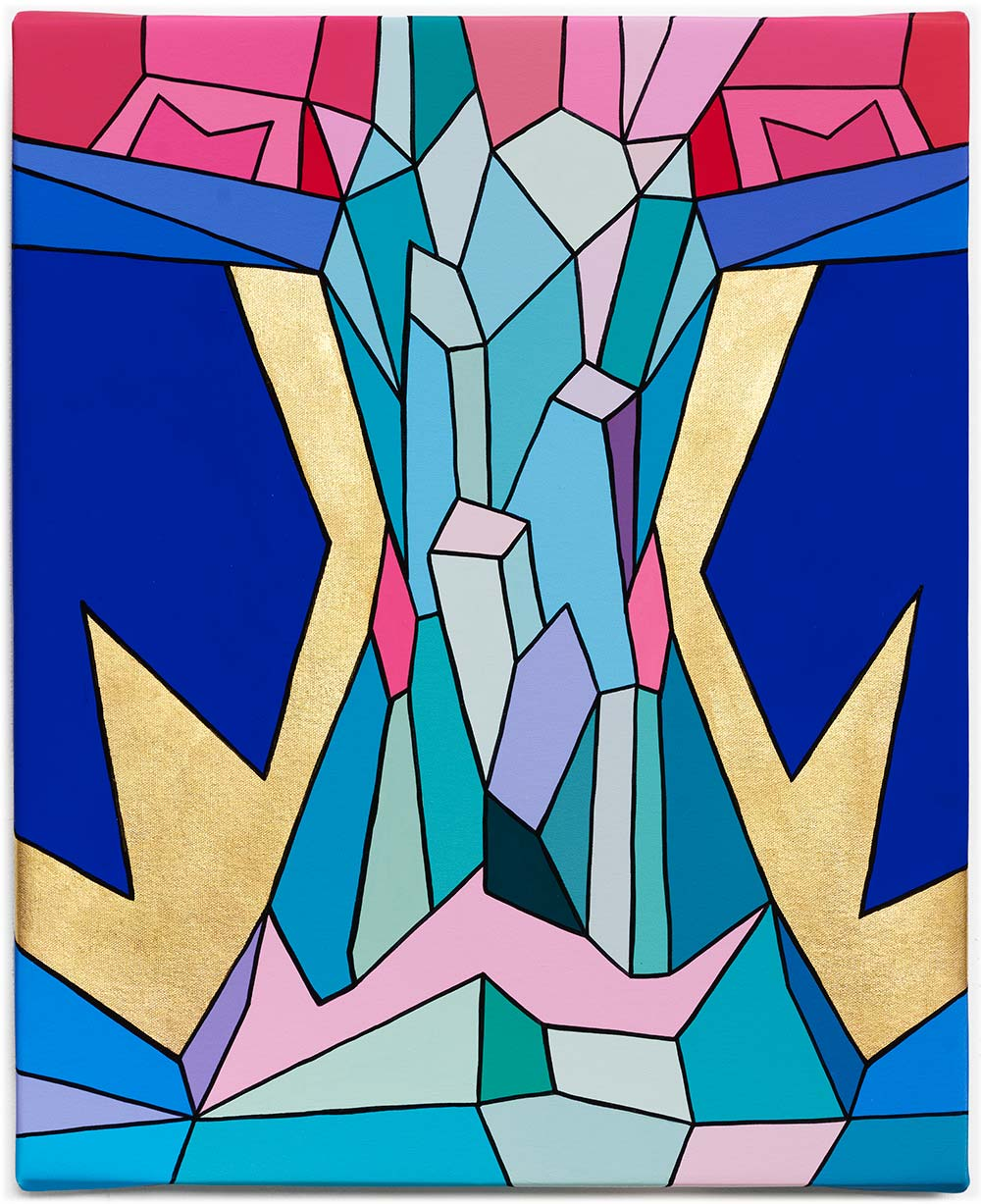 Crystal King Pink Borealis original painting by Happy Sleepy