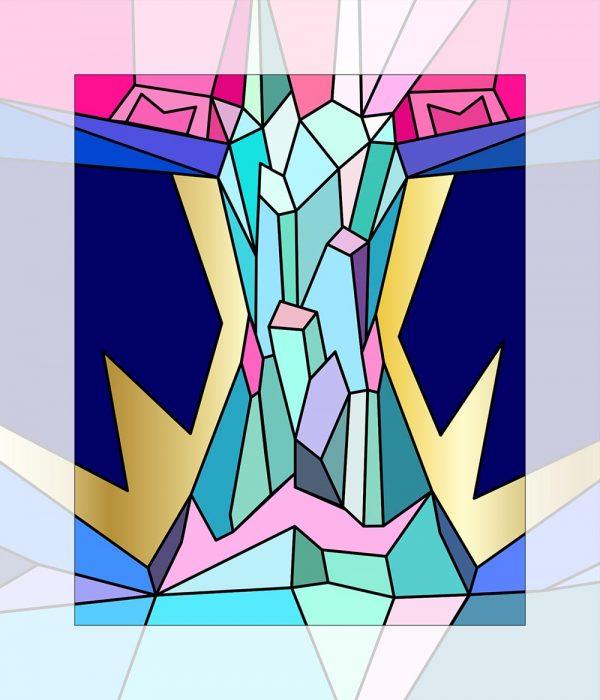 Crystal King Pink Borealis painting digital sketch by Happy Sleepy