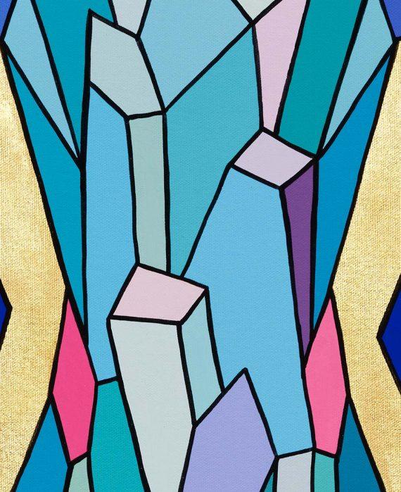 Crystal King Pink Borealis original painting by Happy Sleepy