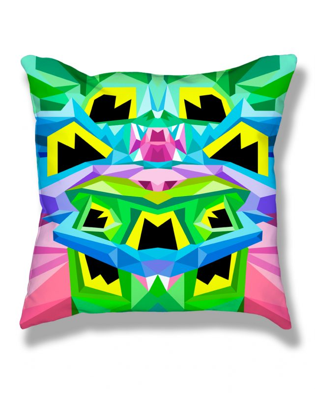 Crystal King Toad pillow, front