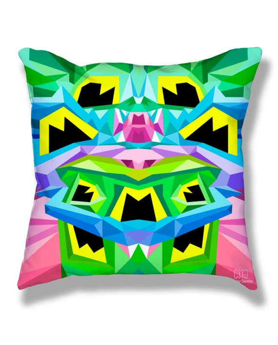 Crystal King Toad pillow, back
