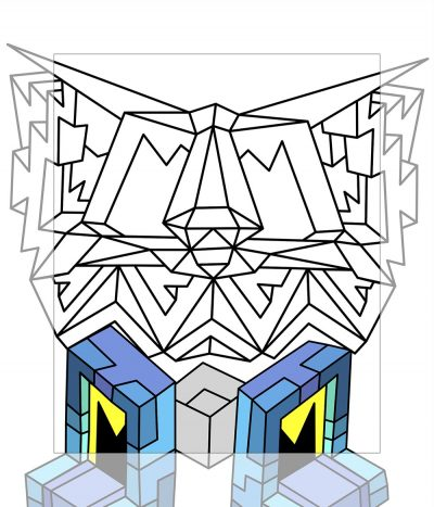 Crystal King Tower Eyes painting digital sketch by Happy Sleepy