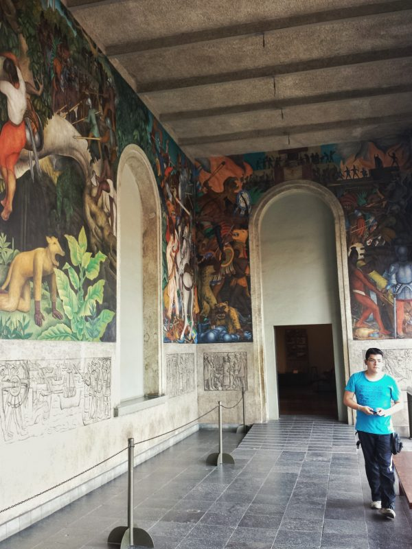 Diego Rivera murals in the Palace of Cortes.