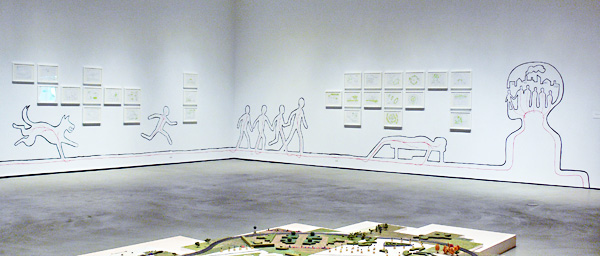 Gallery show of Thousand Plateaus drawings and wall drawing installation at the Doris McCarthy Gallery in Toronto in 2006.