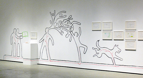 Thousand Plateaus drawings installed in an exhibition at the Doris McCarthy Gallery