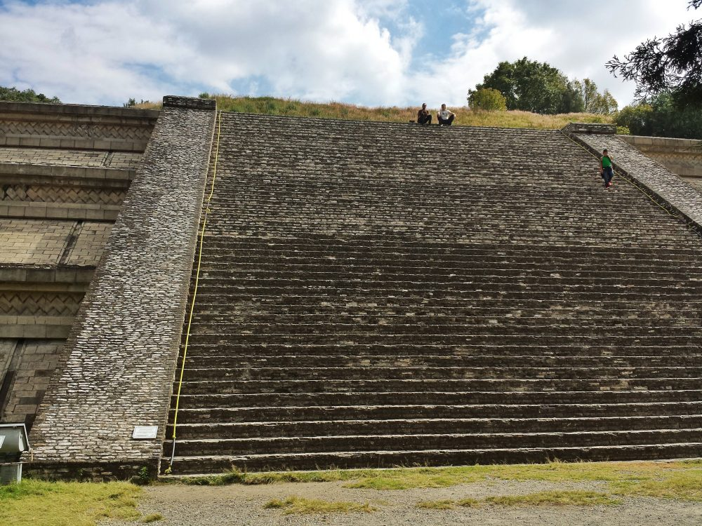 Stairs on the side of the pyramid