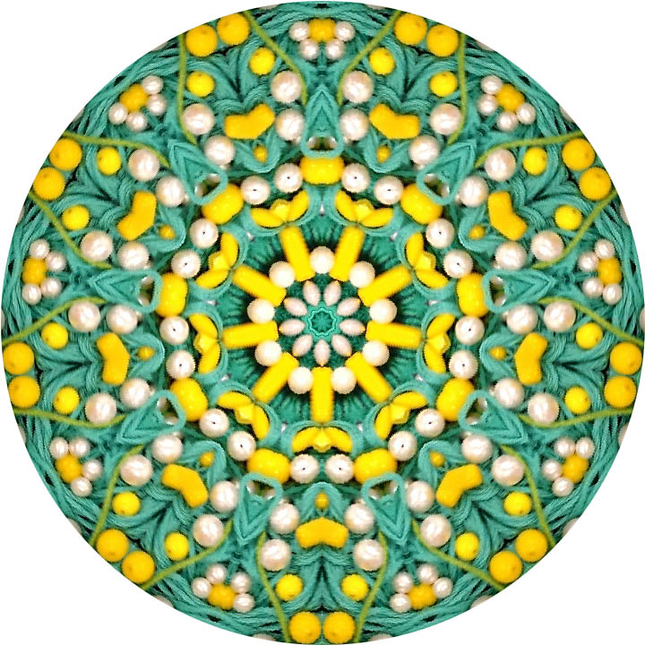 Mandala photo with beads