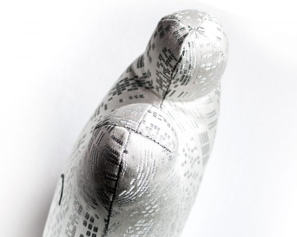 White and silver textile sculpture