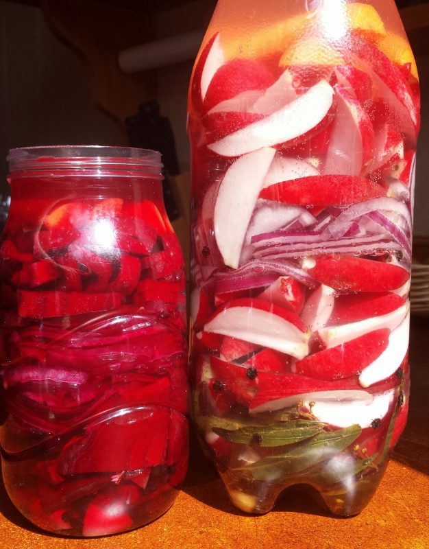 Naturally pickled vegetables.
