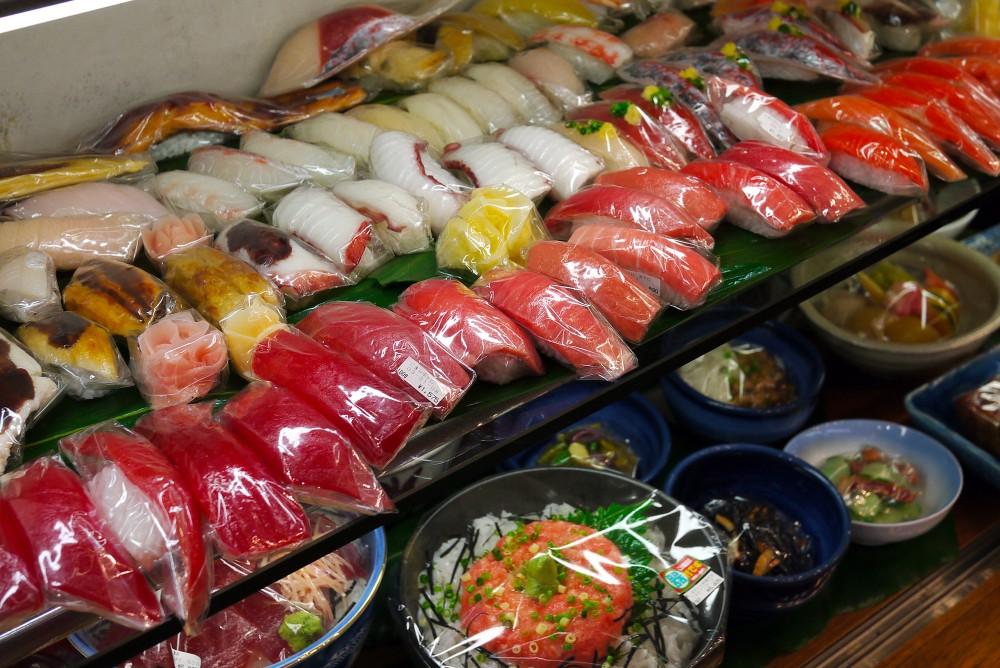 Sushi, Maizaru Sample Shop, Kappabashi, Tokyo