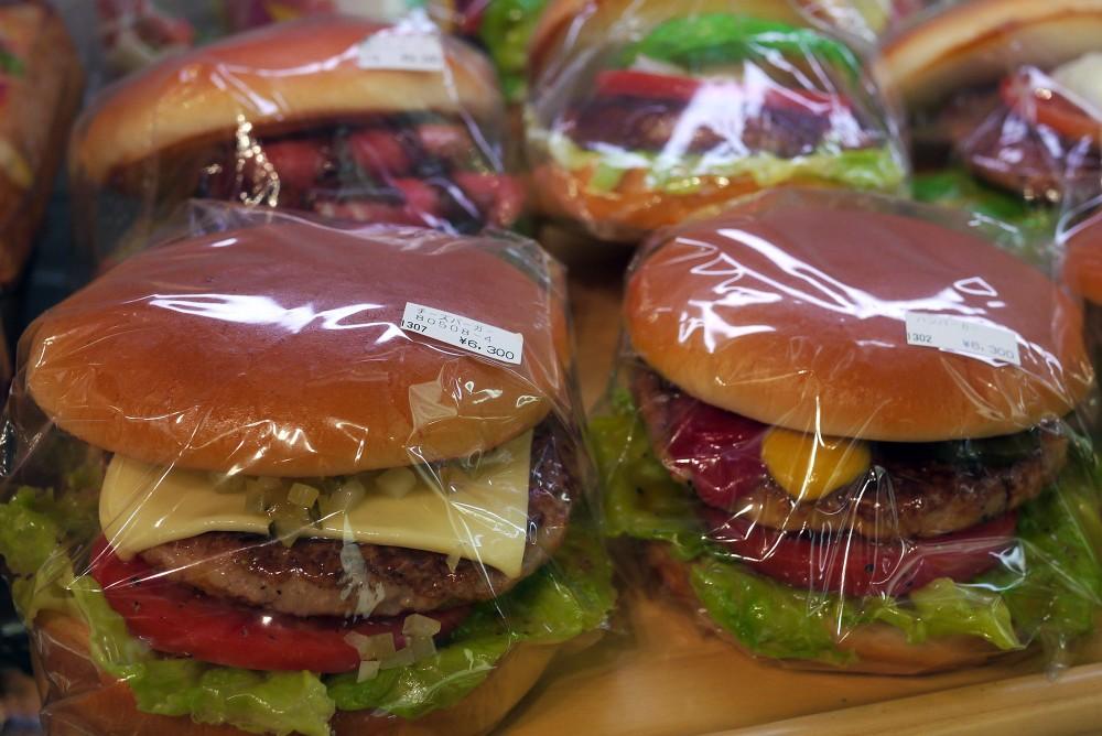 Hamburgers, Maizaru Sample Shop, Kappabashi, Tokyo