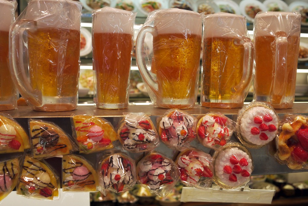 Beer and sweets, Maizaru Sample Shop, Kappabashi, Tokyo