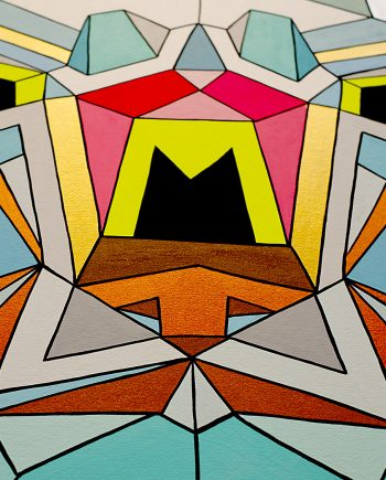 Detail of Luciferous Radii painting by Marc Ngui and Magda Wojtyra