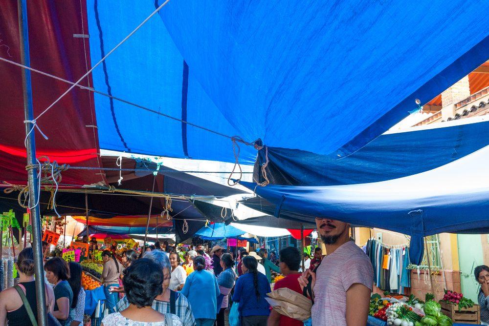 Tepoztlan, Mexico market tarps