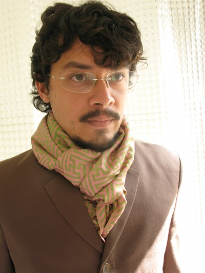 Marc Ngui portrait with silk scarf
