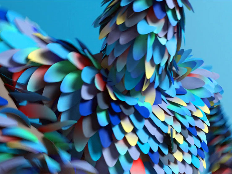 AICP 2016 CGI feather dancer still