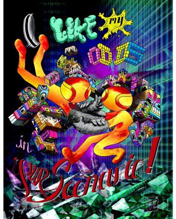 """Meme Swarm poster: """"I Like My Odds in Your Scenario"""""""