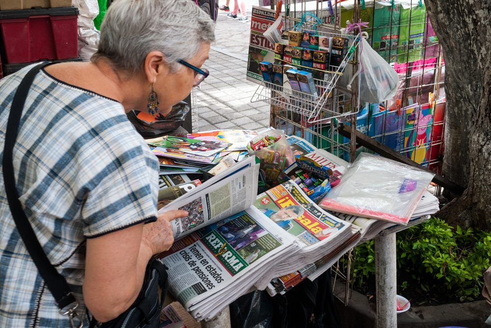 newspaper-stand-tepoztlan-market-mexico