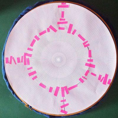 Circular paper grid